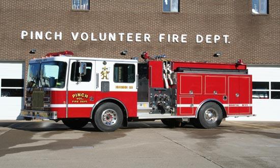 Pinch Volunteer Fire Department Engine