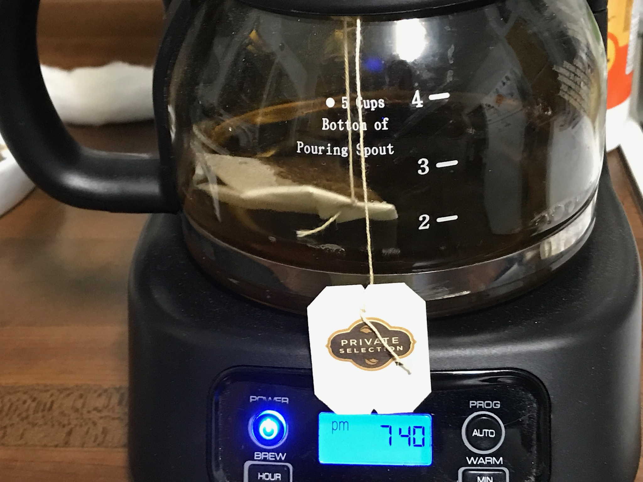 What???  Tea in a coffee maker????  Photo taken by and the property of FourWalls.