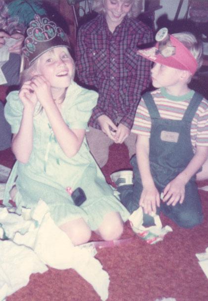 Sarah and Jason on Sarah's 10th Birthday Party