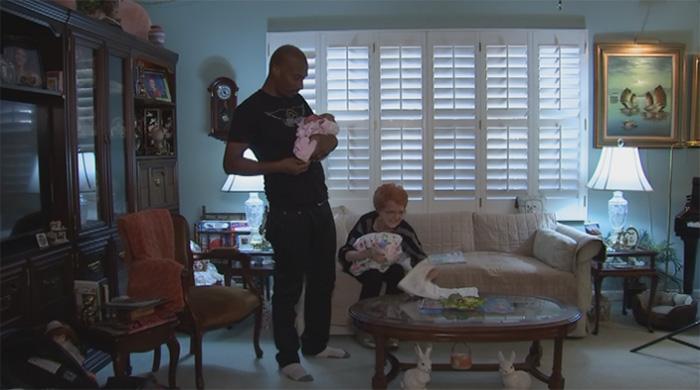 Joy Ringhofer and Rubin Swift inside her home in Phoenix