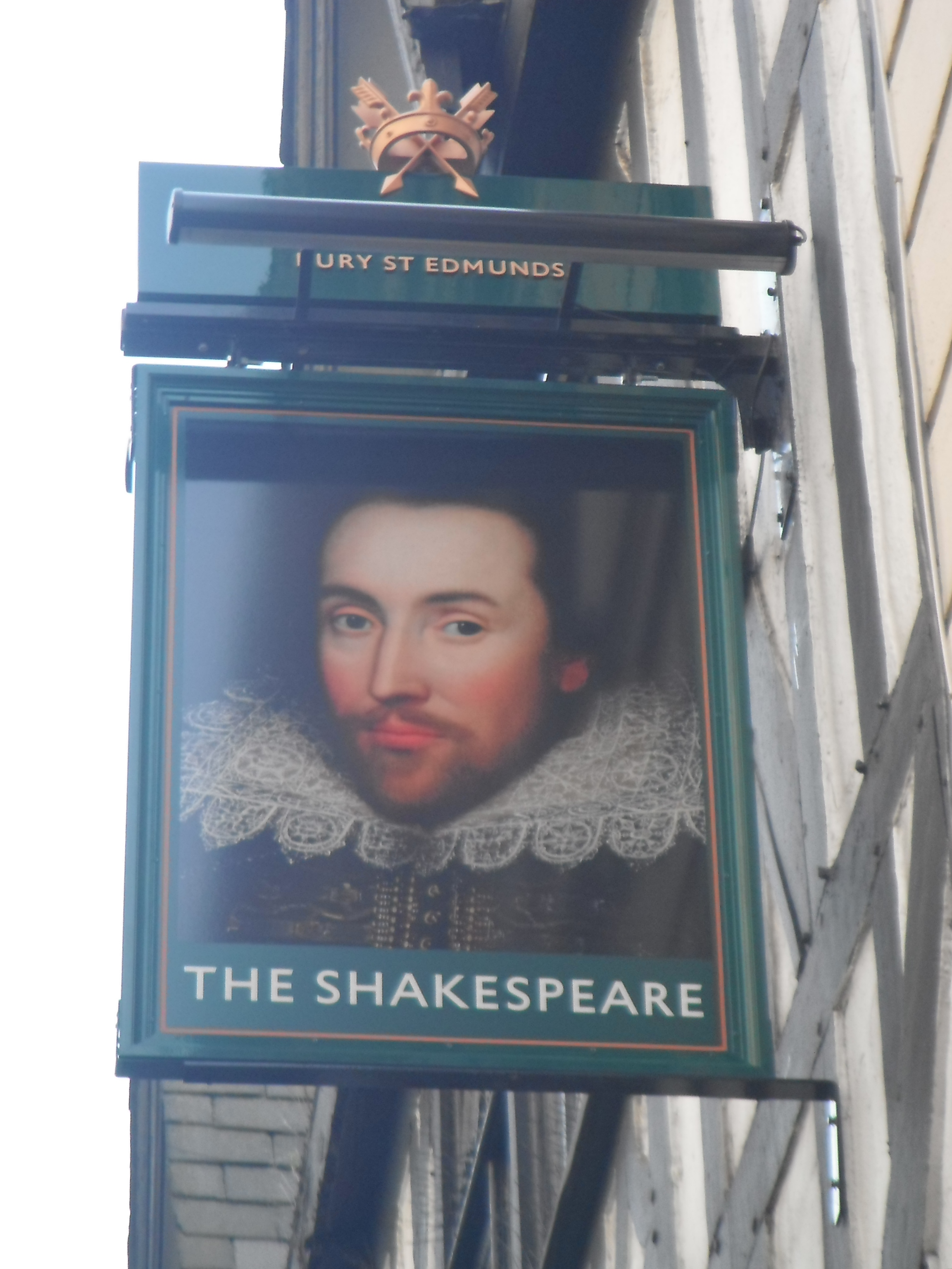 Photo taken by me – The Shakespeare pub sign, Manchester
