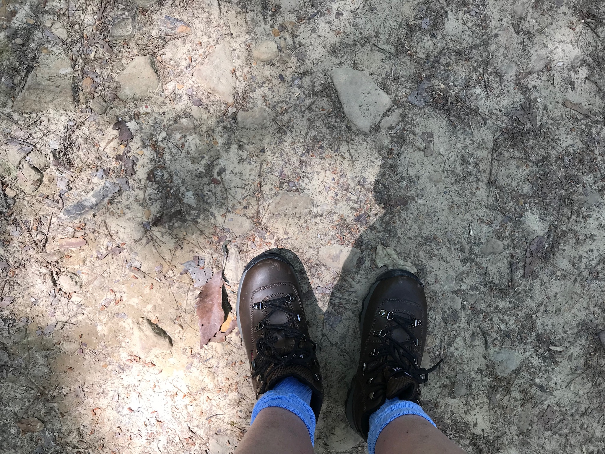 My new hiking boots are now DIRTY!!!!  Photo taken by and the property of FourWalls.