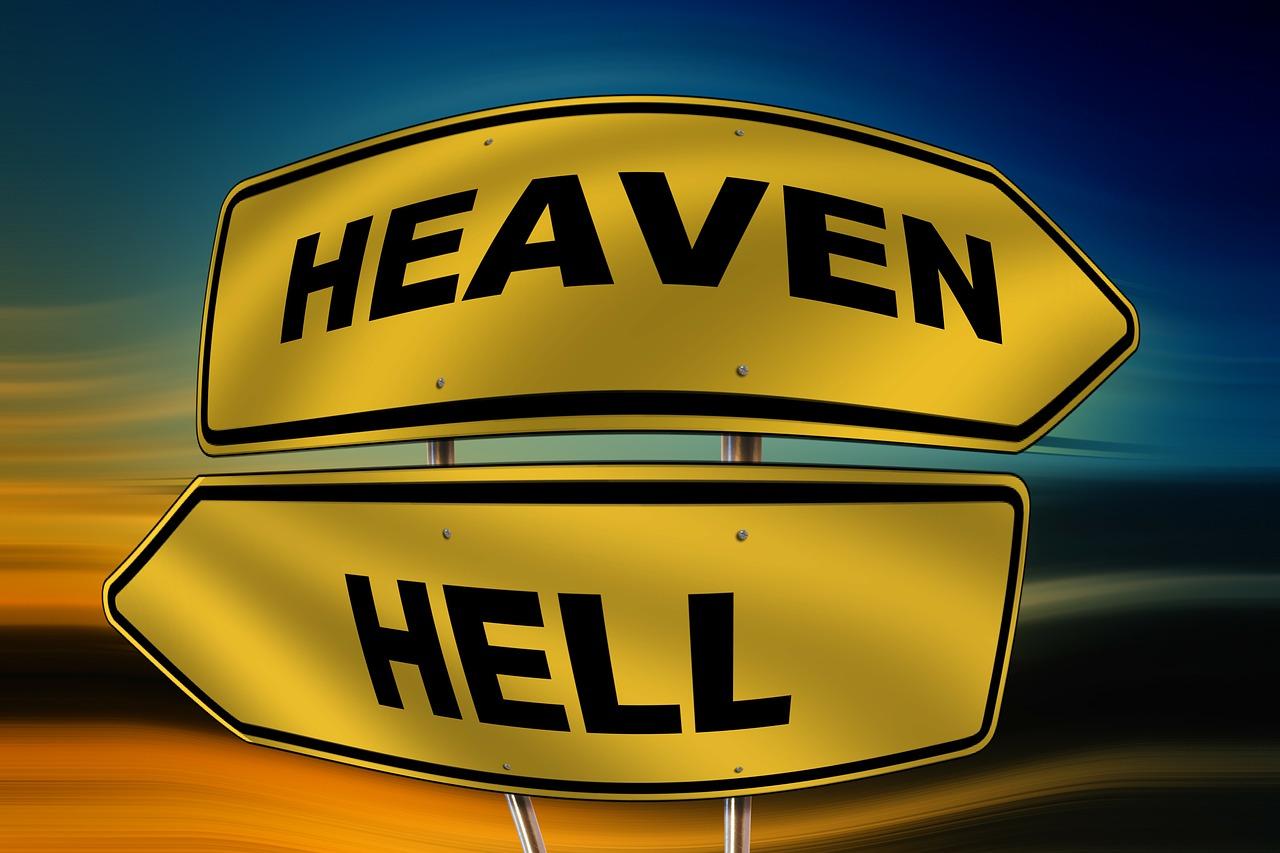 https://pixabay.com/en/sky-hell-road-sign-direction-right-115393/