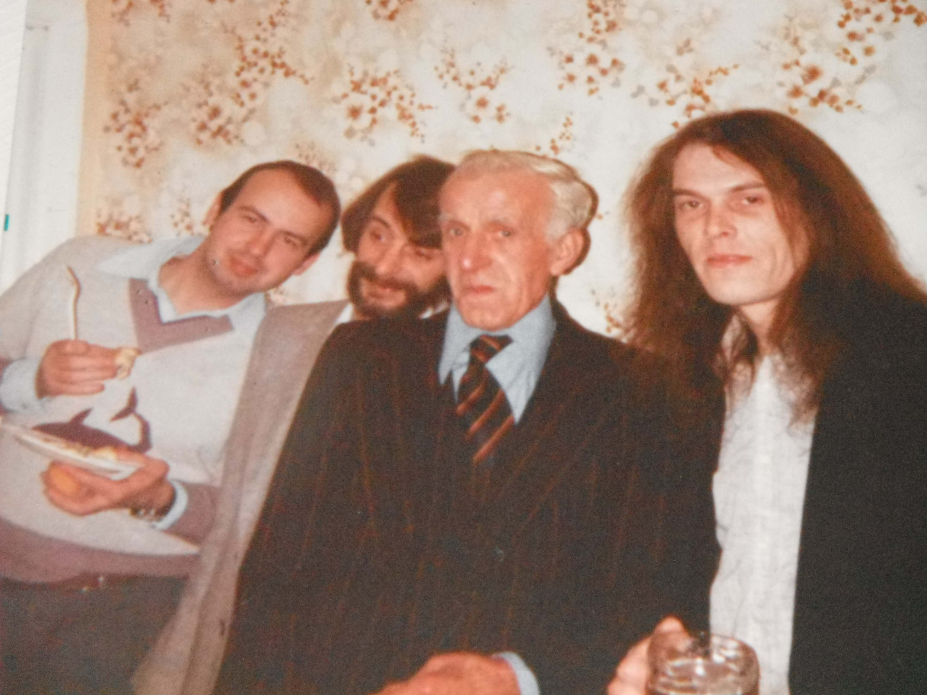 Photo tken by family - me (left)with my Mum's dad and two of my uncles, all except me now sadly deceased