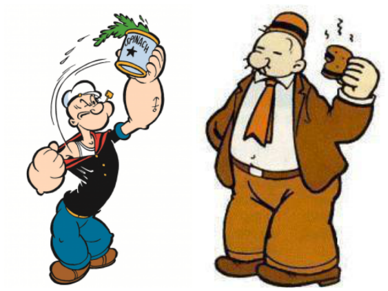 Is Popeye Addicted To Spinach And Wimpy To Hamburger? / myLot