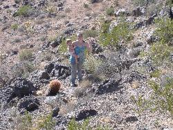 me and lil dan  - me and lil dan half way up a mountain, my husband is on top of the mountain