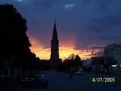 GRAHAMSTOWN, SOUTH AFRICA - Here is a early morning picture of our little town, Grahamstown, Eastern Cape Province, South africa. It was taken during the winter this year.