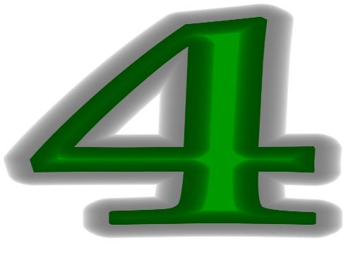 # 4 - The number four, I used my picture it program to create for my discussion.