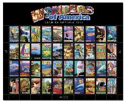 Wonders of America -  Very beautiful.  Why people use those ugly flag stamps I will never understand.  Too lazy to bother I guess.