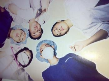 the doctor and his staff - a photo taken from my favorite newspaper (source: daily inquirer) a doctor with his medical staff.
