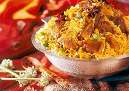 Indian Biriyani - Indian Biriyani is rice mixed with mutton or chicken with so many masalas and additives which makes it one of the finest dishes in the world