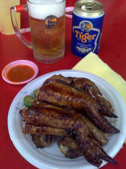 Beer and chicken wings - The image gives credence to my taste.