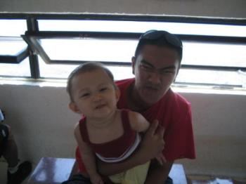 my husband and our daughter - vacation at bataan