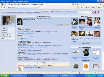 orkut homepage - my orkut homepage