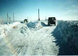 snow - snow on the road