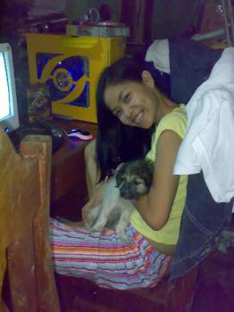 my pet dog and i - taken at home with my dog, lalurp.