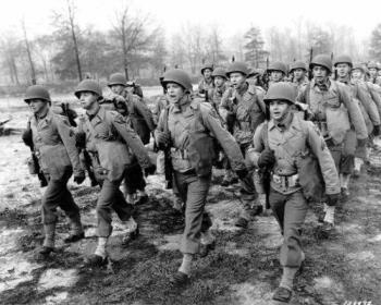 Soldiers in training - World War Two, Soldiers in training