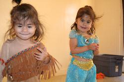 My Daughters - Lina and Lydia dressed up in their Halloween costumes.