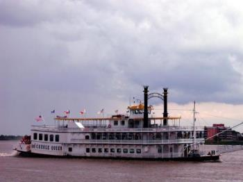 Riverboat - A riverboat cruising the Mississippi River