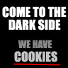 Diets are Nasty - Come over to the darkside, we have cookie just shows how hard it is to diet. Temptation is everywhere