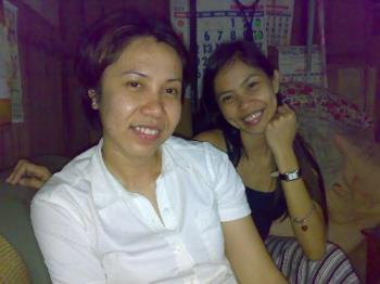 with my real friend. - taken at home after dinner with my real true friend for 12 years now.