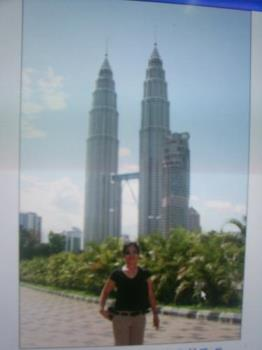 Petronas - The photo shown is the twin towers of Malaysia also called Petronas. It is believed to be one of the tallest buildings in the world.