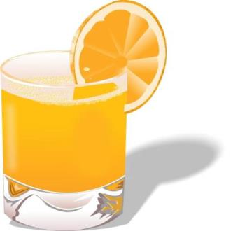 Orange Juice - Orange juice contain vitamin c. it is very useful for your skin.