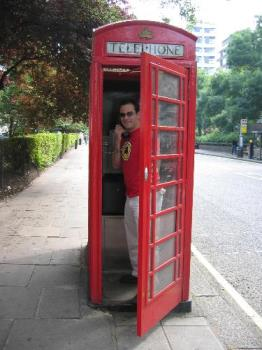 phone booth - this is a phone booth in London, England when we were on our trip