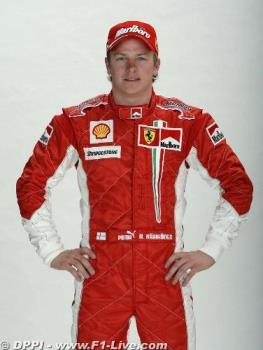 Kimi in Red - Ferrari Pilot for 2007