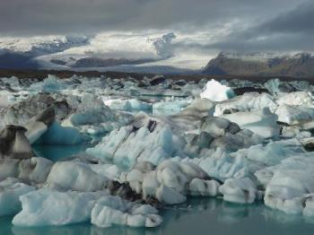 Ice lake - icebergs in a lake in iceland