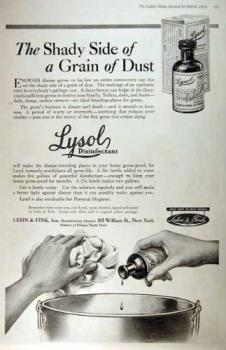 Lysol Advertisement - Here is an old ad for Lysol Disinfectant.