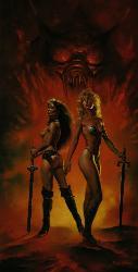 Amazons/ Boris Vallejo - Beautiful picture of 2 women