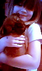 Cassie and Pumpkin - My daughter and 6wk old Pumpkin.