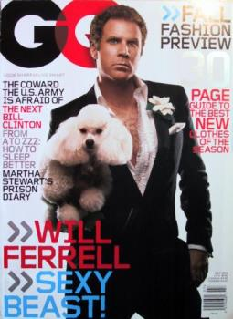 will ferrell with a poodle - dog lover
