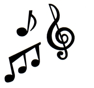 I luv Music - Variety of music notes