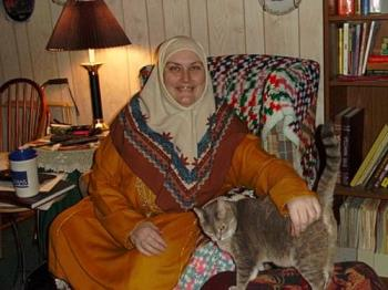 Smiling me and Tee-tee cat - Smiling me and cat