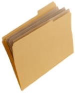 Using a file folder for a mouse mat. - File folders are not just for stuffing paper in, as it can be used as a mouse mat if you tape it to your desk.