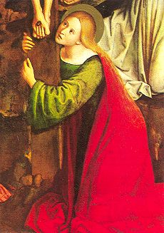 Mary Magdalene - Mary Magdalene at the foot of the cross