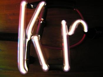 krypton in a tube - contained in a tube