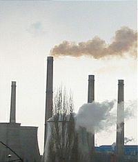 air polution - air polution from the industry