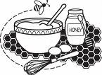 Baking - An image of a load of baking ingredients. When you bake you can make lovely things to eat like cakes and bread.
