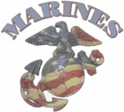 Flag - I love this picture of the Marine logo in Red, White & Blue.