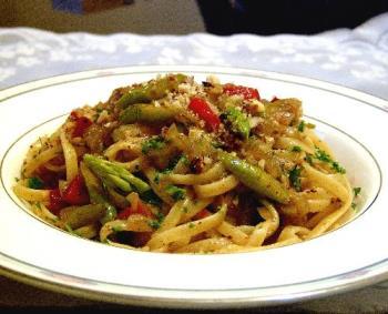 pasta dish - an almond pasta dish