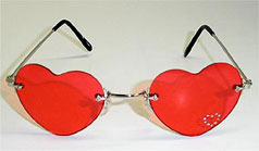 heart-shapped red sun glasses - heart-shapped red sunglasses