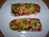 French Bread Pizza - French Bread Pizza - homemade pizza on French bread base