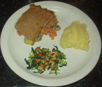 Vegetable Pie - Vegetable Pie with Cabbage and Mashed Potatoes