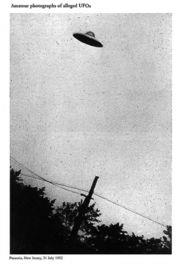 ofo sighting - A purported 1952 photo of a UFO over Passaic, New Jersey, from an FBI document.