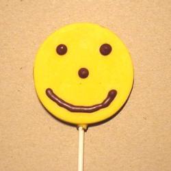 Smiley Face - a smiley face chocolate lollipop