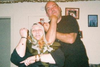 sister & brother bonding - man, lady