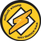 Winamp logo - I like winamp because it's easy to use, reliable and free :D